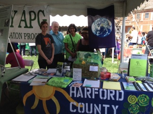 Michaela from Sierra Club, Bill and Dineli from HCCA, and Brooke from Chesapeake Climate Action Network